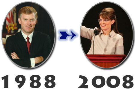 Dan Quayle (1988), Sarah Palin (2008)