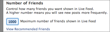 Number of Friends configuration