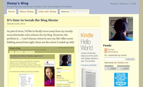 dossy.org screenshot