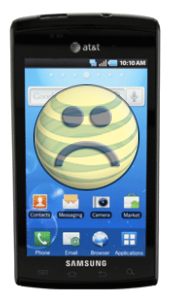 Samsung Captivate on at&t