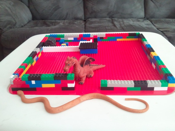 The beginnings of a LEGO dungeon.