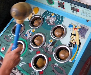 whack-a-mole, by tpapi on Flickr