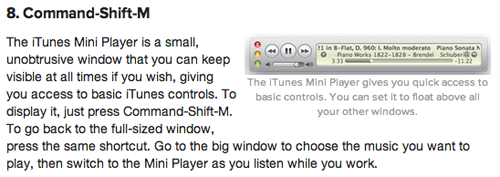 iTunes 10 MiniPlayer