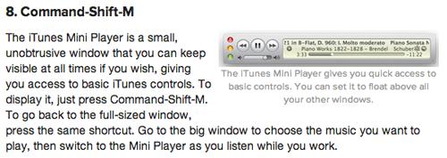 iTunes 10 MiniPlayer