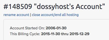 Closing my DreamHost account